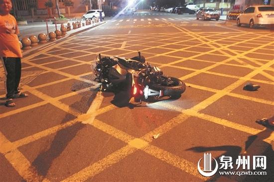 凌晨醉驾重型摩托