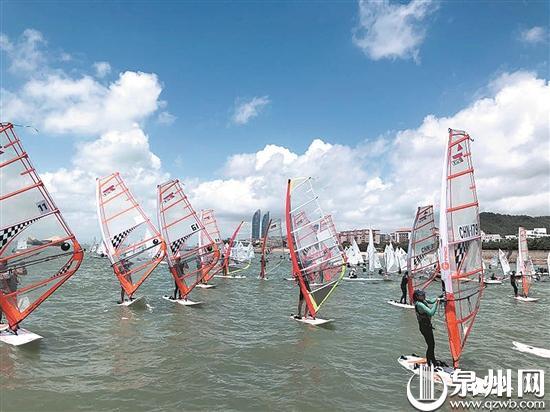 泉州市第十一届运动会帆船帆板比赛收帆 惠安队独得14金