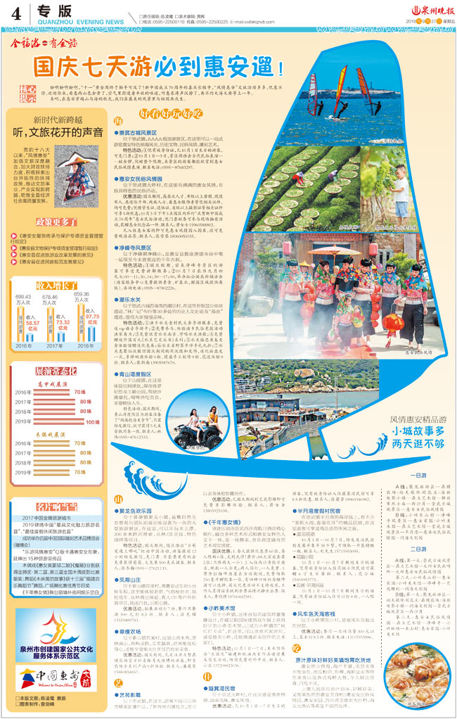 国庆七天游必到惠安遛!