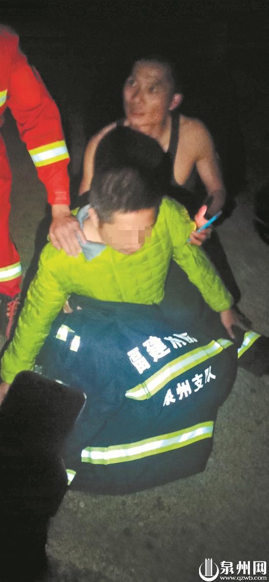 北滨江公园保安队再出手 男子跳江寻短 保安寒夜救人