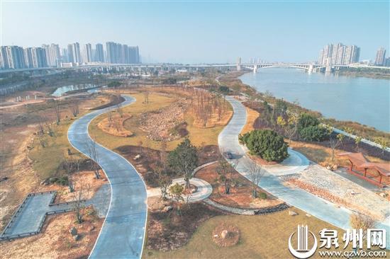 晋江南岸生态公园顺济旱闸到溜石塔公园段明年春节前将基本完工
