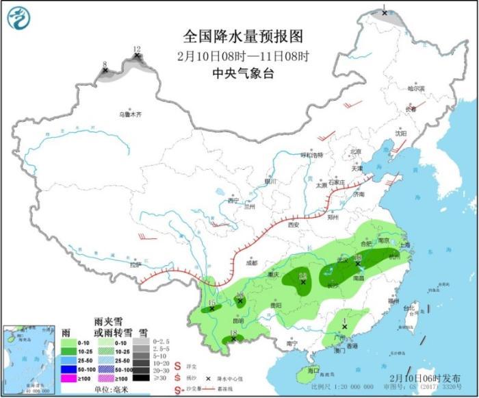 南方地区将迎来新一轮降雨 华北黄淮大气扩散条件较差
