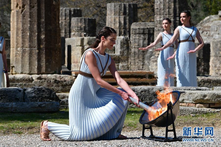 东京奥运会圣火在希腊点燃