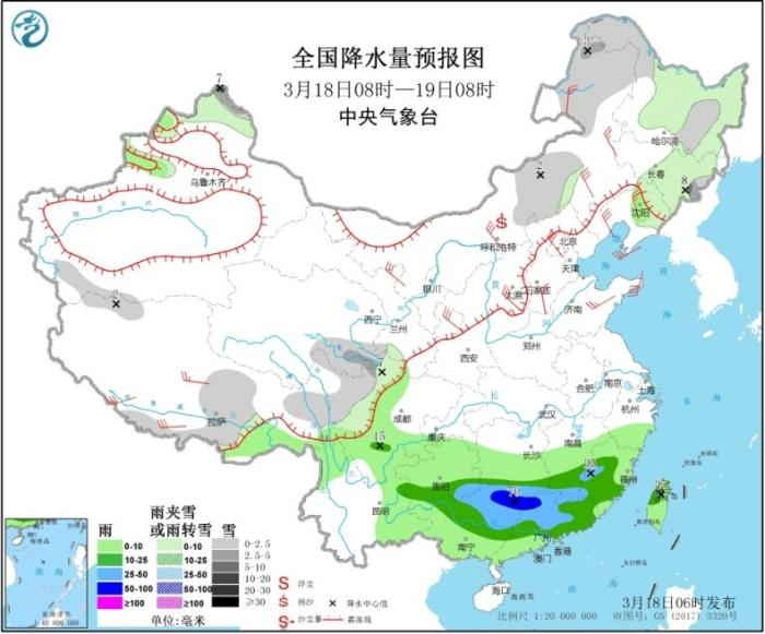 江南华南等地多降雨天气 冷空气将影响北方地区
