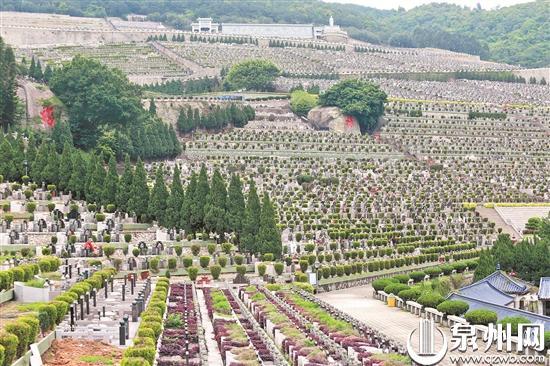 皇迹山陵园内,无市民前来祭扫。