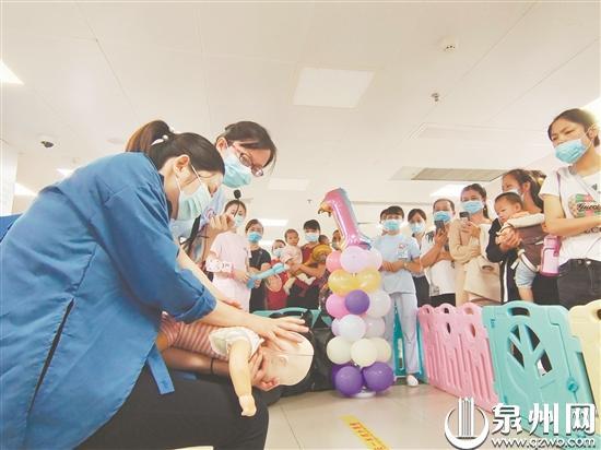 """儿童节最好的礼物是""""安全"""" 泉州市儿童医院医护人员现场开展儿童急救培训"""