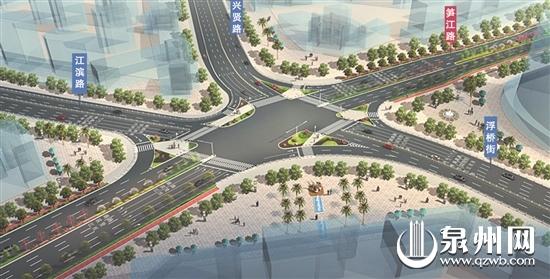 五岔路口改造效果图