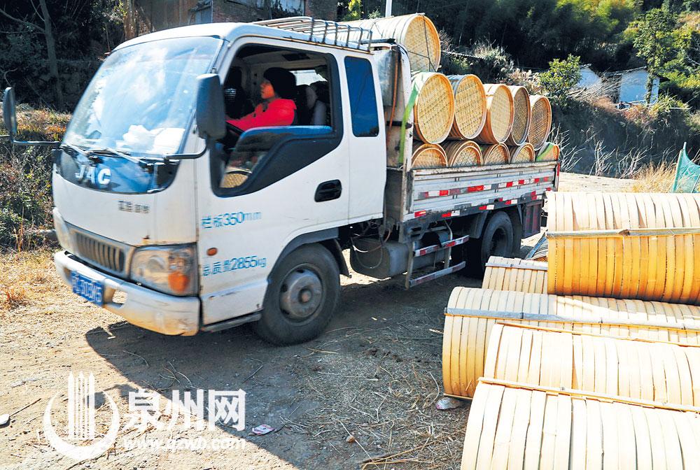 外地客商定期驱车进村运载大批竹器