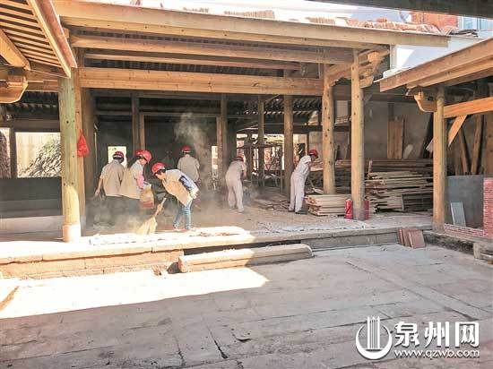 台魁巷7—1号古民居修缮工程现场