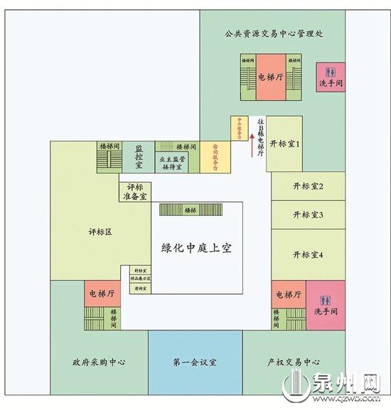 服务大厅各楼层平面布局导引图