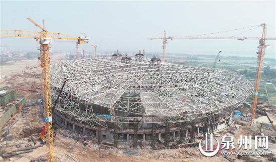 晋江市第二体育中心项目施工现场