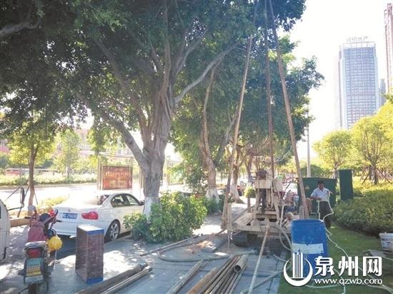 去年9月下旬,施工队曾现场勘探,但过后一直无进展。