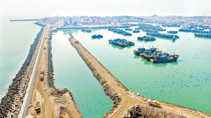 祥芝国家中心渔港扩建 已完成六成工程量