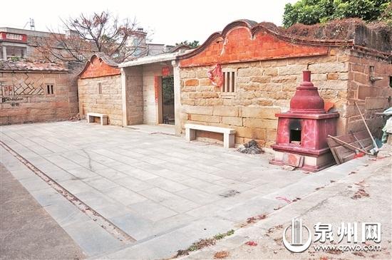 古厝翻建前原貌,闽南传统的出砖入石。