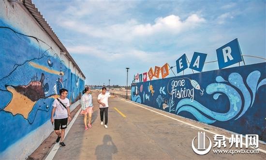 白鹭滩涂鸦长廊